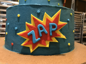 Custom Comic Book Cake from The Able Baker