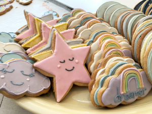 Rainbow, Cloud, and Star Sugar Cookies