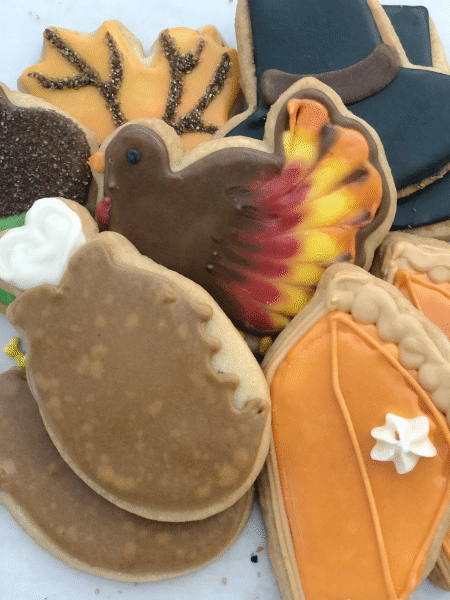 Thanksgiving Sugar Cookie Baskets